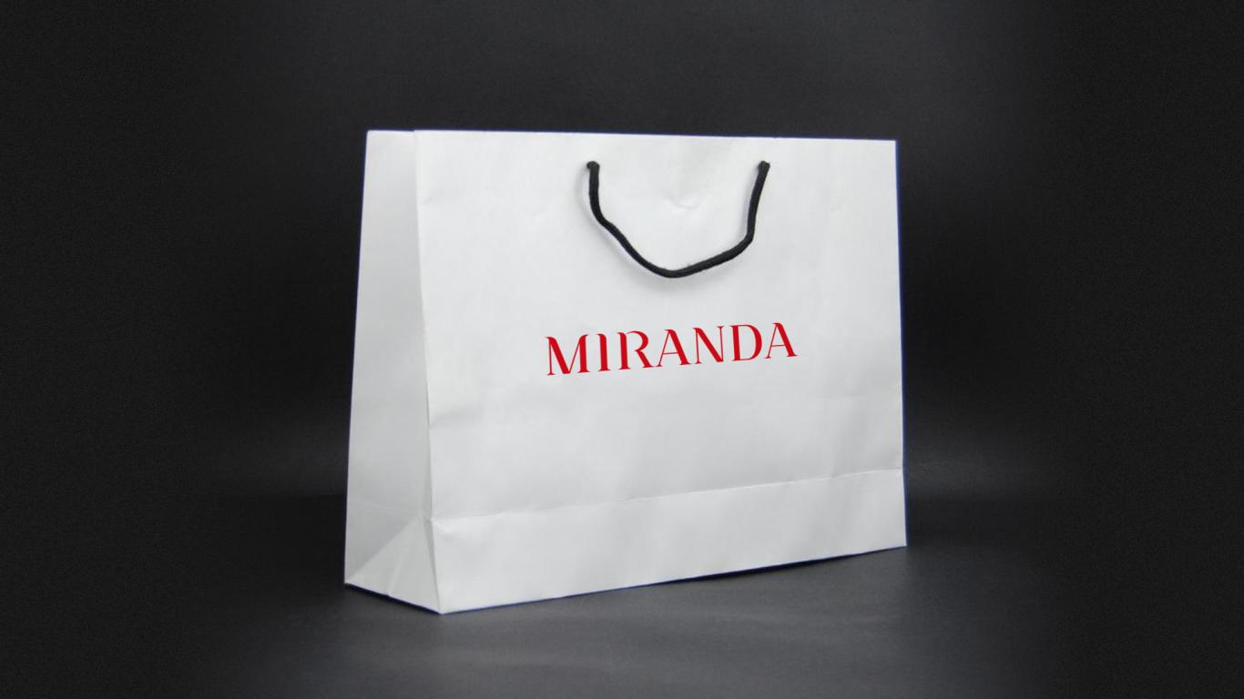 MIRANDA服装w88优德LOGO设计中标图5