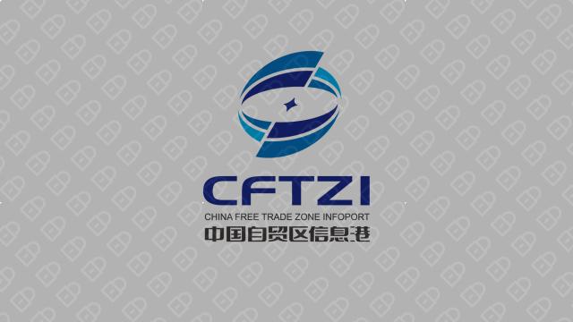 中国自贸区信息港LOGO设计入围方案1