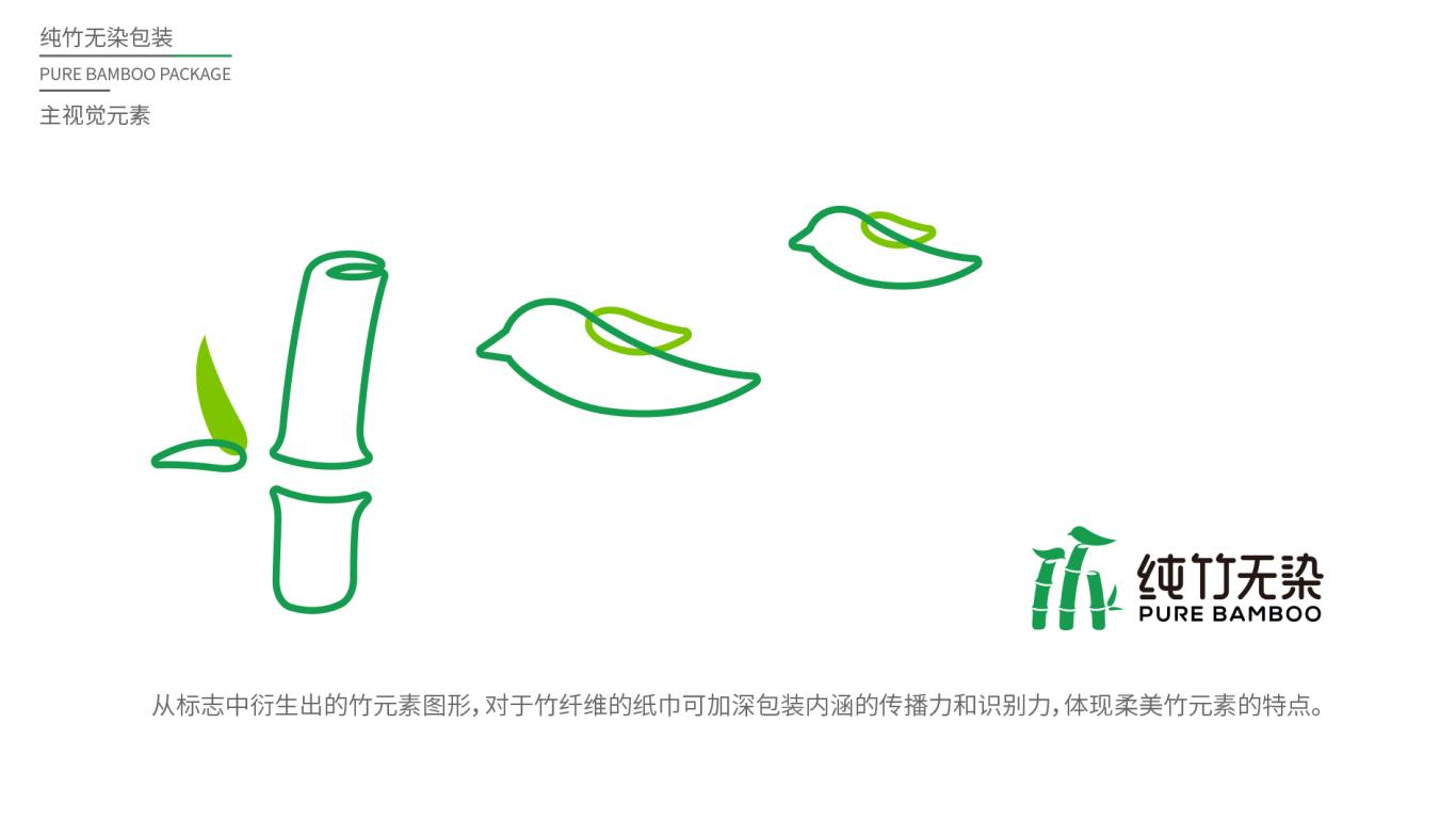 纯竹无染抽纸品牌包装设计中标图1