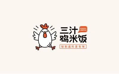 三汁鸡米饭品牌logo万博手机官网方案