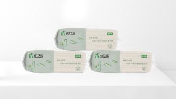 纯竹无染抽纸品牌包装设计