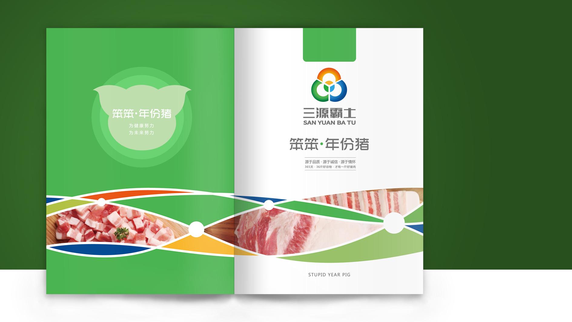 三源霸土猪肉品牌画册设计