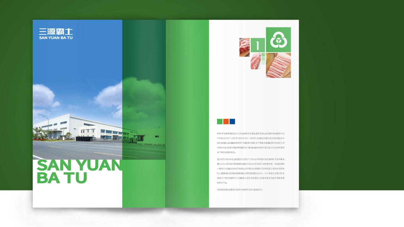 林西绿家园商贸公司画册设计中标图0