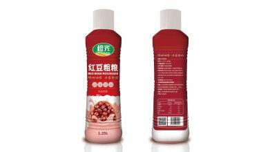 橙光紅豆粗糧飲料品牌包裝設計