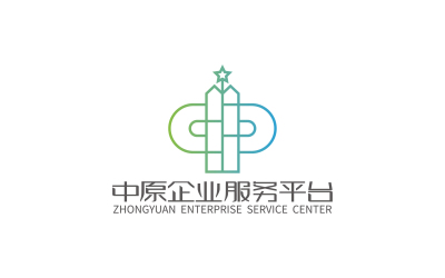 中原企业服务平台品牌标志设计