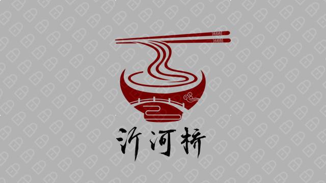 沂河桥餐饮品牌LOGO设计入围方案0
