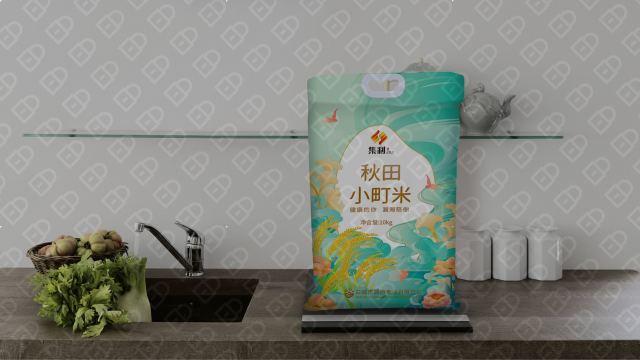 集利秋田小町米品牌包装设计入围方案0