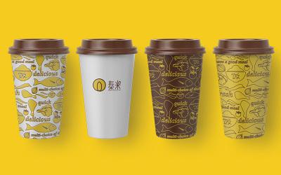 泰米自選快餐飯館品牌vi設計