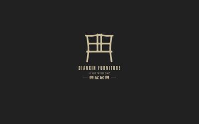 典欣家具logo 设计