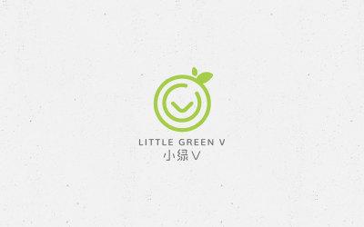 小绿V儿童维生素LOGO设计