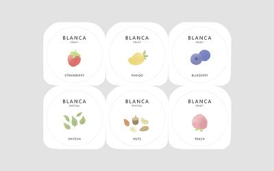 酸奶純白簡約包裝設計