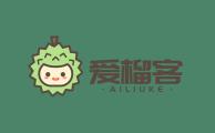 生鲜品牌爱榴客卡通logo设计方案