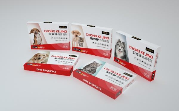 【药品包装设计】虫克清宠物驱虫药系列包装设计
