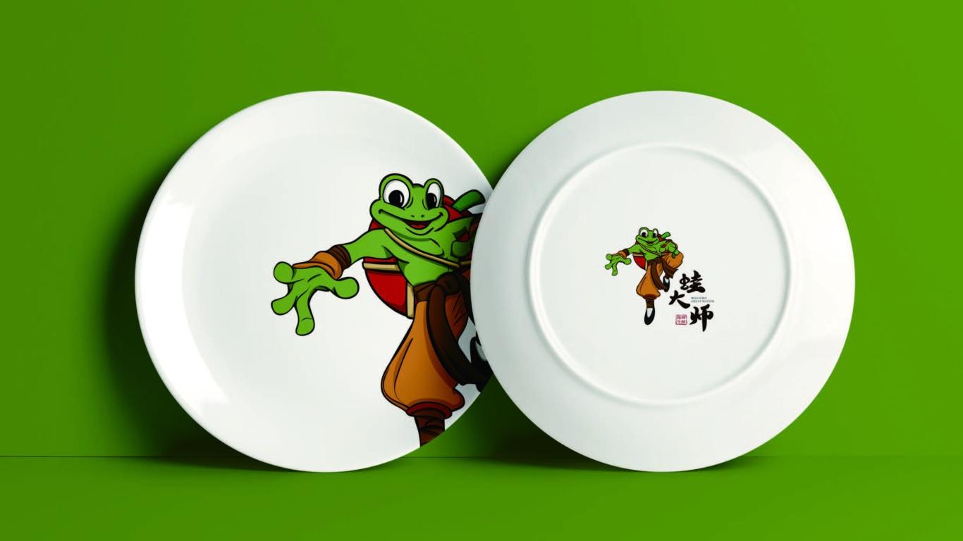 蛙大師餐飲品牌LOGO設計中標圖2