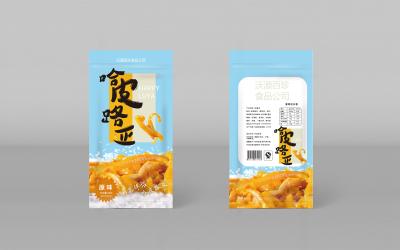 盐焗鸡皮零食包装设计