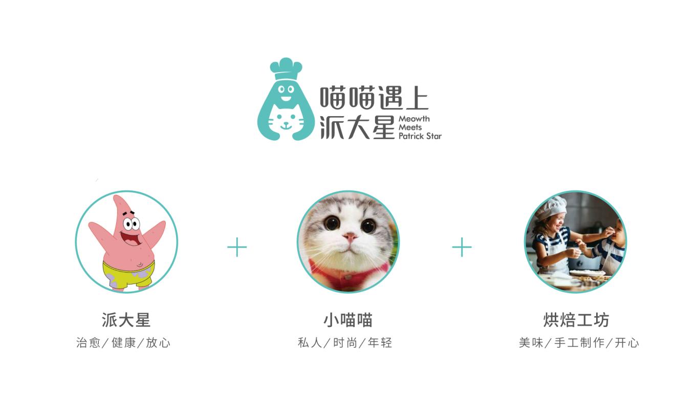 喵喵遇上派大星甜品品牌LOGO设计中标图1