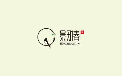 景知春茶叶LOGO设计
