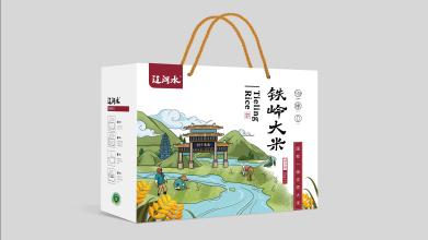 辽河水大米品牌包装设计