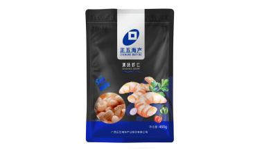 正五海洋品牌免浆虾仁食品包装设计
