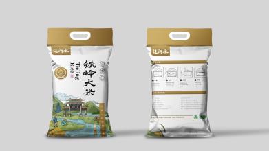 辽河水大米品牌包装延展设计