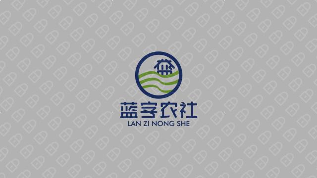 蓝字农社品牌LOGO设计入围方案3
