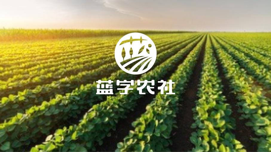 蓝字农社品牌LOGO设计中标图0