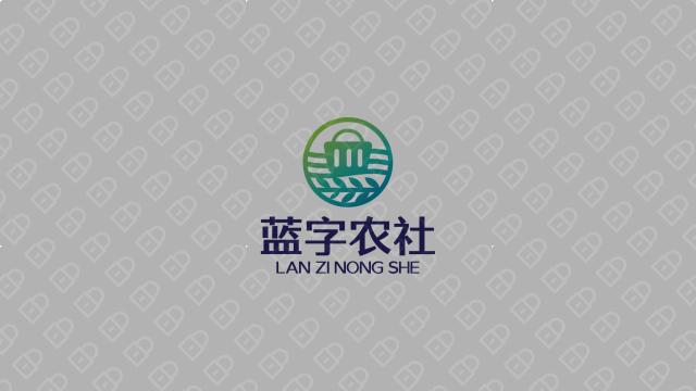蓝字农社品牌LOGO设计入围方案2