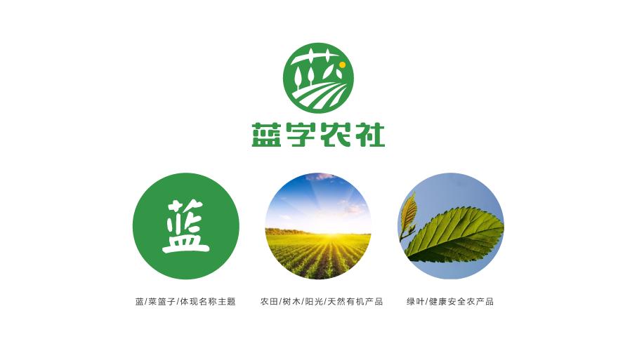 蓝字农社品牌LOGO设计中标图1