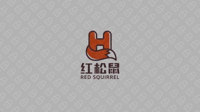 红松鼠电商品牌LOGO设计入围方案4