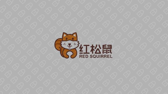 红松鼠电商品牌LOGO设计入围方案3