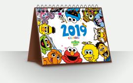 2019芝麻街英语台历