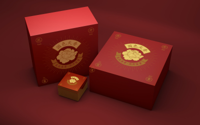 國色天香茶包裝設計
