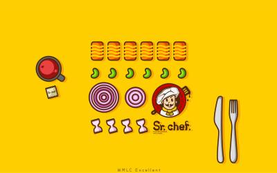 Sr.chef.餐饮品牌logo设计