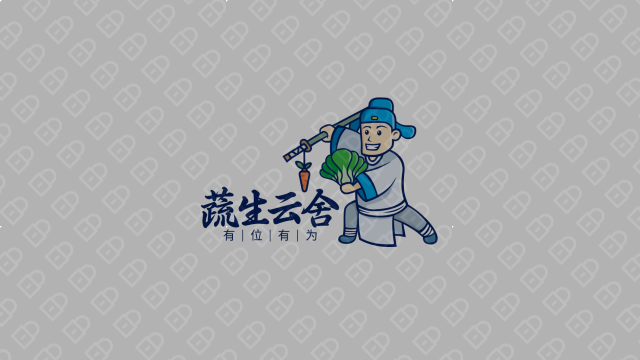 蔬生云舍餐饮w88优德吉祥物设计入围方案1