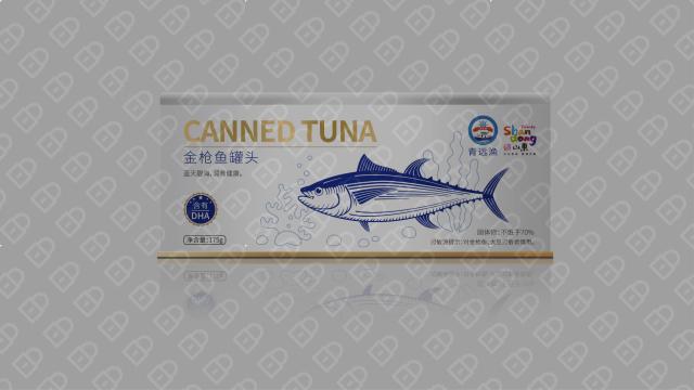 青远渔品牌金枪鱼罐头包装设计入围方案1