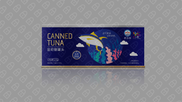 青远渔品牌金枪鱼罐头包装设计入围方案2