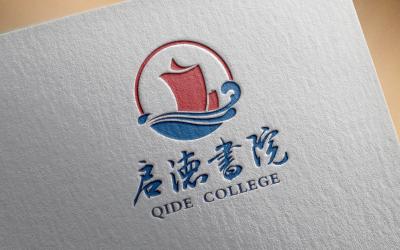 交通大学启德书院logo设计、...