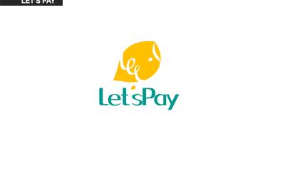 let's pay logo design