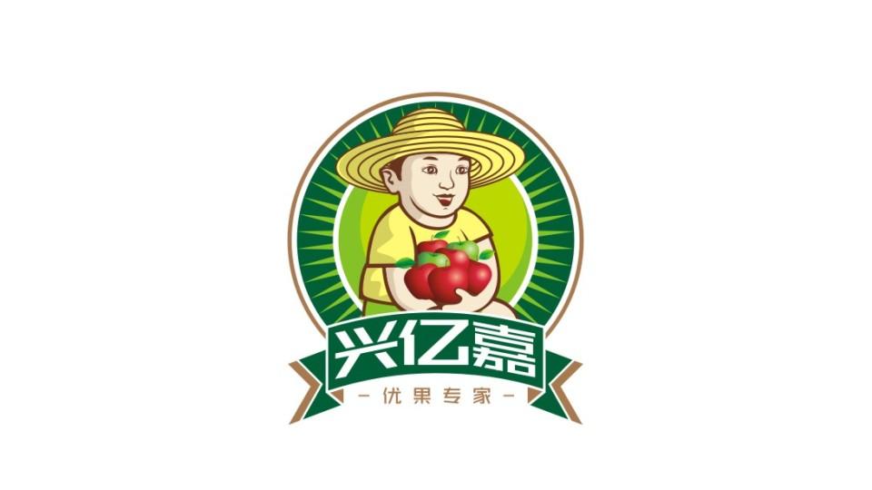 興億嘉生鮮水果連鎖店LOGO設計