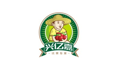 兴亿嘉生鲜水果连锁店LOGO设计