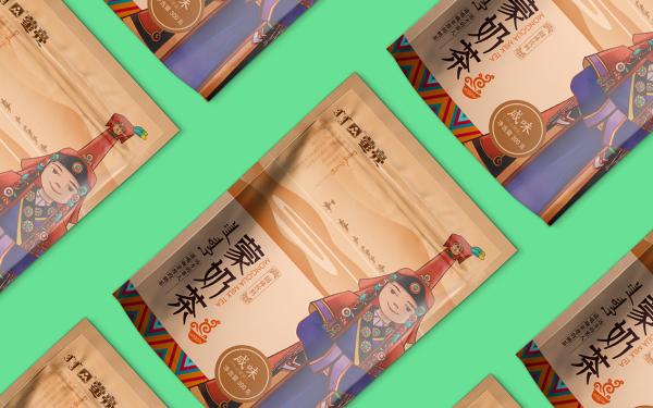 蒙亮奶茶包装设计