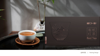 楊門一派高端有機紅茶品牌包裝設計