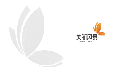 五台山美丽风景logo设计