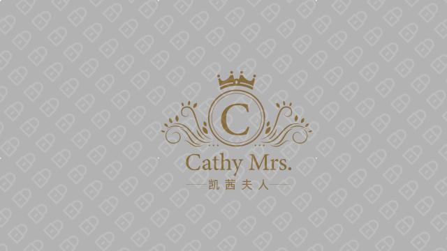 凱茜夫人高端服裝品牌LOGO設計入圍方案4