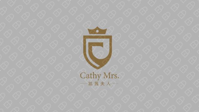 凱茜夫人高端服裝品牌LOGO設計入圍方案3