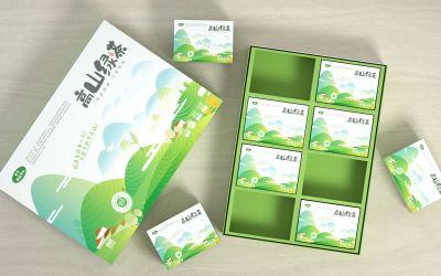 高山綠茶包裝設計