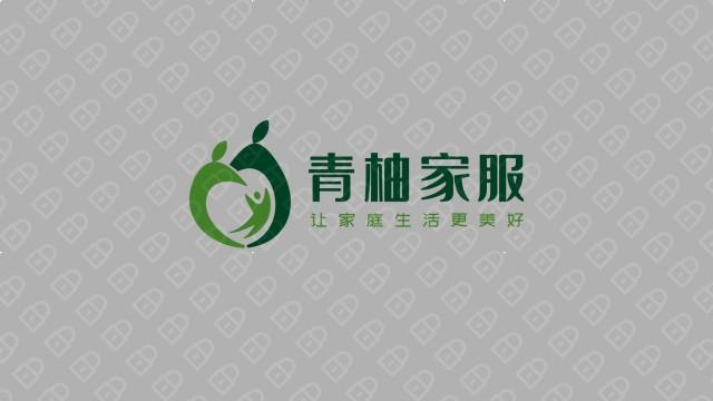 青柚家政服務公司LOGO設計入圍方案5