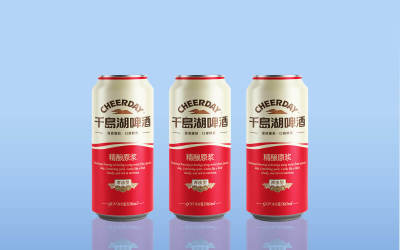 千島湖啤酒包裝設計