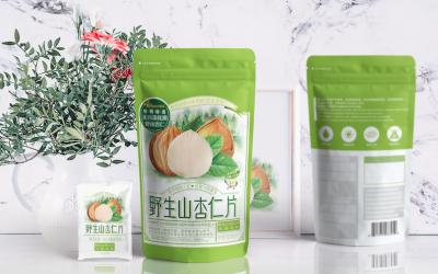 野生山杏仁片包装设计提案