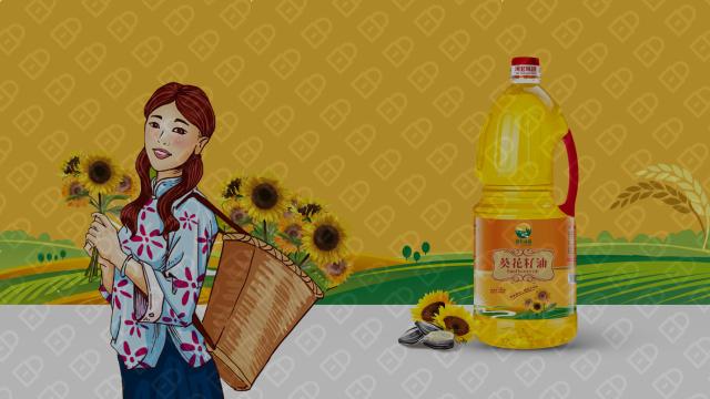 河套味道葵花油品牌包装设计入围方案3